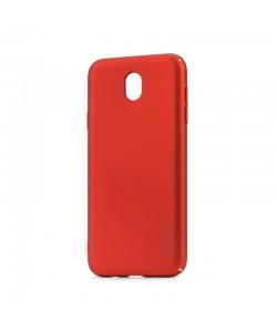 Meleovo Metallic 360 Red - Samsung Galaxy J5 (2017) Carcasa Slim PC (culoare metalizata fina)