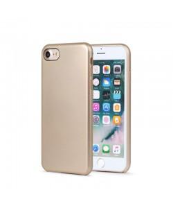 Meleovo Pure Gear II Gold - iPhone 8 Carcasa (culoare metalizata fina, interior piele intoarsa)
