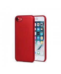 Meleovo Pure Gear II Red - iPhone 8 Carcasa (culoare metalizata fina, interior piele intoarsa)