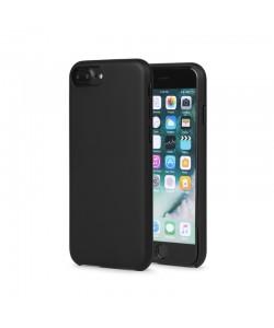 Meleovo Pure Gear II Black - iPhone 8 Plus Carcasa (culoare metalizata fina, interior piele intoarsa)