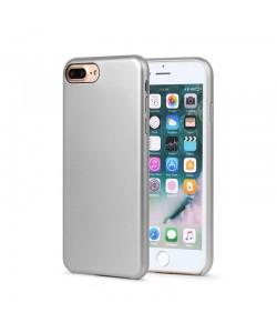 Meleovo Pure Gear II Silver - iPhone 8 Plus Carcasa (culoare metalizata fina, interior piele intoarsa)