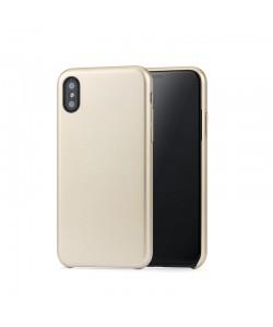 Meleovo Pure Gear II Gold - iPhone X Carcasa (culoare metalizata fina, interior piele intoarsa)