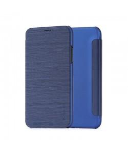 Meleovo Smart Flip Navy - iPhone X Husa Flip (spate mat perlat si fata cu aspect metalic)