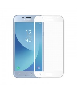 Folie Meleovo Sticla Full Cover White (2.5D, 9H, oleophobic) - Samsung Galaxy J7 (2017)