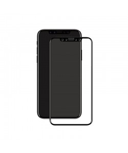 Folie Eiger Sticla 3D Edge to Edge Clear Black (0.33mm, 9H, perfect fit, curved, oleophobic) - iPhone X