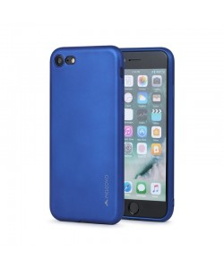 Meleovo Soft Slim - iPhone 7 / iPhone 8 Carcasa Albastra (aspect mat)