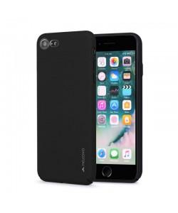 Meleovo Metallic Slim 360 - iPhone 7 / iPhone 8 Carcasa PC Neagra (culoare metalizata fina)