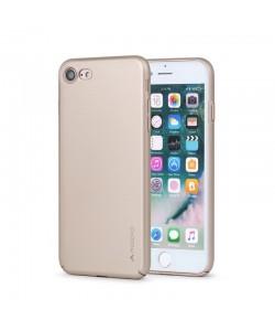 Meleovo Metallic Slim 360 - iPhone 7 / iPhone 8 Carcasa PC Aurie (culoare metalizata fina)