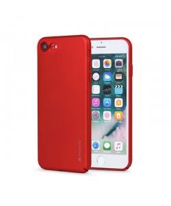 Meleovo Metallic Slim 360 - iPhone 7 / iPhone 8 Carcasa PC Rosie (culoare metalizata fina)