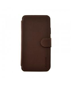 Meleovo Book Stitchy I Brown - iPhone X Husa Book Piele eco