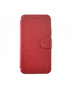 Meleovo Book Stitchy II Red - iPhone X Husa Book Piele eco