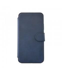 Meleovo Book Stitchy II Navy - iPhone X Husa Book Piele eco