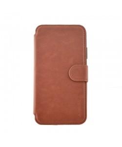 Meleovo Book Stitchy II Brown - iPhone X Husa Book Piele eco