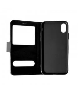 Meleovo Window Black - iPhone X Husa Book