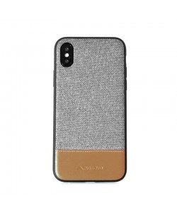 Meleovo Fabric Gray - iPhone X Carcasa PC