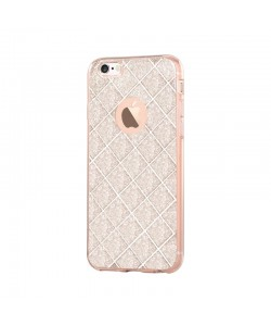 Devia Knight Champagne Gold - iPhone 6/6S Carcasa Silicon (cu folie spate glitter detasabila)