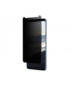 Folie Eiger Sticla 3D Privacy Clear (0.33mm, 9H, case friendly, curved, oleophobic) - Samsung Galaxy S9