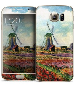 Claude Monet - Fields of Tulip With The Rijnsburg Windmill - Samsung Galaxy S6 Skin