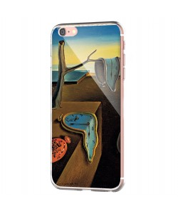 Salvador Dali - The Persistence of Memory - iPhone 6 Carcasa Transparenta Silicon