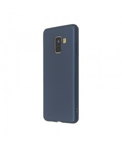 Just Must Uvo Navy - Samsung Galaxy A8 (2018) Carcasa Plastic (material fin la atingere, slim fit)