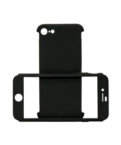 Just Must Defense 360 Black - iPhone 7 / iPhone 8 (3 piese: protectie spate, protectie fata, folie sticla)