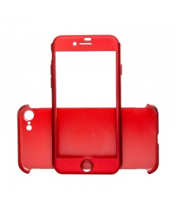 Just Must Defense 360 Red - iPhone 7 / iPhone 8 (3 piese: protectie spate, protectie fata, folie sticla)