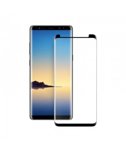 Folie Eiger Sticla 3D Case Friendly Clear Black (0.33mm, 9H, curved, oleophobic) - Samsung Galaxy Note 9