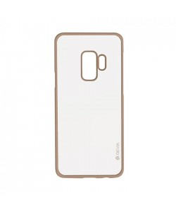 Glitter Soft Champagne Gold - Devia Samsung Galaxy S9 Plus Carcasa Silicon (margini electroplacate)