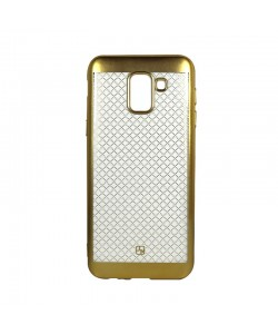 Just Must Electroplate Gold - Samsung Galaxy J6 (2018) Carcasa Silicon (model mat perlat prin electroplacare)
