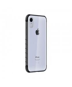 Devia Dulax Series Black - iPhone XR Carcasa (spate dur transparent si margini antishock)