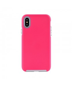 Devia KimKong Rose Red - iPhone XS / X Carcasa Policarbonat (antishock, din doua bucati)