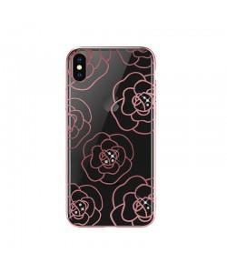 Devia Camellia Rose Gold - iPhone XS / X Carcasa Policarbonat