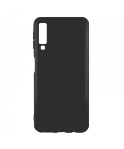 Just Must Candy Black - Samsung Galaxy A7 (2018) Carcasa Silicon Negru