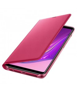 Samsung Wallet Cover Pink - Samsung Galaxy A9 (2018) Husa Book Roz