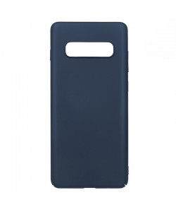 Just Must Uvo Navy - Samsung Galaxy S10 Carcasa Plastic (material fin la atingere, slim fit)