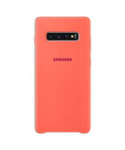 Samsung Silicone Cover Berry Pink - Samsung Galaxy S10 Plus Carcasa Silicon