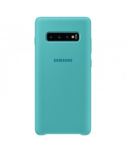 Samsung Silicone Cover Green - Samsung Galaxy S10 Plus Carcasa Silicon