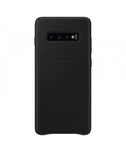 Samsung Leather Cover Black - Samsung Galaxy S10 Plus Husa Book