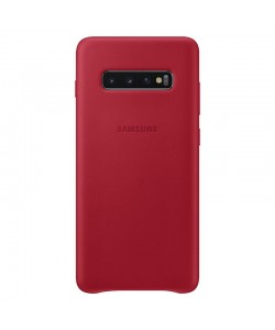 Samsung Leather Cover Red - Samsung Galaxy S10 Plus Carcasa Piele