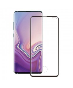 Folie Eiger Sticla 3D Edge to Edge Clear Black - Samsung Galaxy S10 Plus