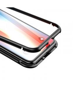 Baseus Magnetite Black - iPhone X / XS Carcasa (protectie 360 grade din 2 piese cu inchidere magnetica)