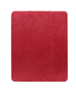 Comma Leather Case Red - iPad Pro 12.9 inch 2018 Husa Piele (pencil slot)
