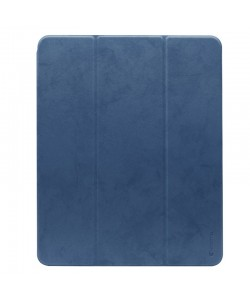 Comma Leather Case Blue - iPad Pro 12.9 inch 2018 Husa Piele (pencil slot)