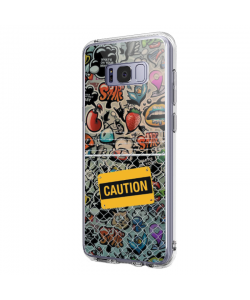 Caution! - Samsung Galaxy S8 Plus Carcasa Transparenta Silicon