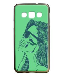 Skull Girl - Samsung Galaxy A3 Carcasa Silicon Premium