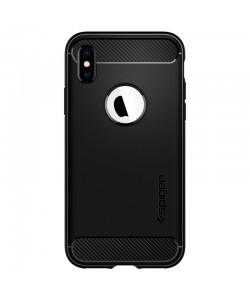 Spigen Rugged Armor Black - iPhone XS / X Carcasa TPU Silicon