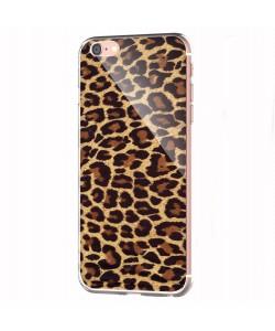 Leopard Print - iPhone 6 Carcasa Transparenta Silicon