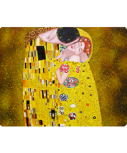 Gustav Klimt - The Kiss - Sony Xperia E1 Carcasa Neagra Silicon