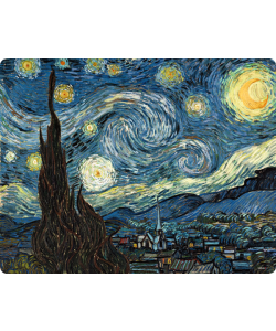 Van Gogh - Starry Night - Samsung Galaxy S3 Mini Carcasa Transparenta Plastic