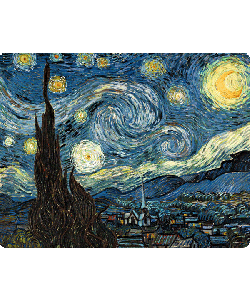 Van Gogh - Starry Night - iPhone 6 Plus Carcasa TPU Premium Neagra